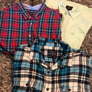 MENS XXL AMERICAN EAGLE BUTTON DOWN BUNDLE